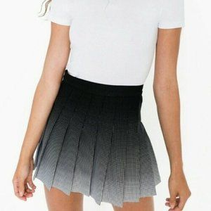 American Apparel Black Ombre pleated skirt
